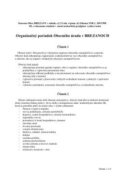 Organizačný poriadok Obecného úradu v