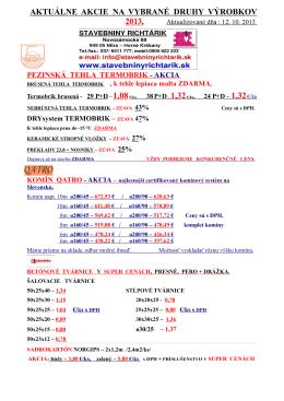 Akciovy letak 2013 - Stavebniny Richtarik