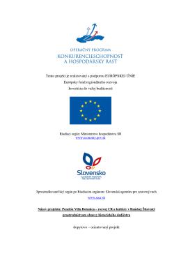 Realizácia projektu z fondov EÚ