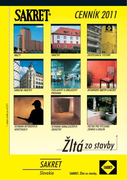 CENNÍK 2011 Žltá zo stavby