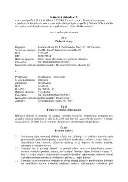 Rámcová dohoda č.2 - kancelárske potreby