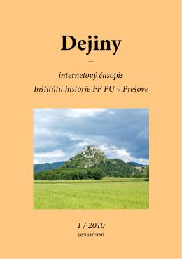 pdf - 7.3 MB - Dejiny - Internetový časopis