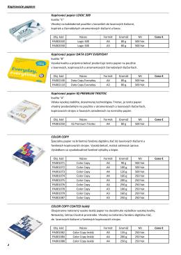 Kopírovacie papiere Kopírovací papier LOGIC 300