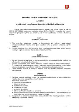 Smernica - likvidácia majetku