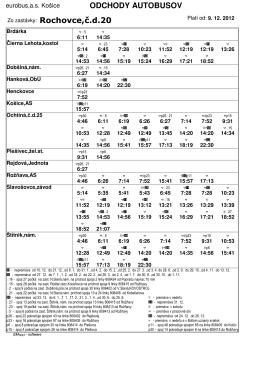 Tu stiahnuť odchody autobusov od 9.12.2012.