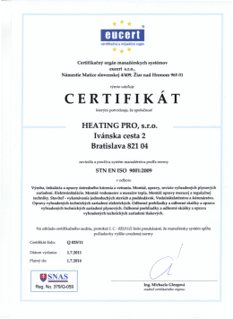 eucert - Heating Pro