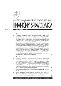 Finančný spravodajca 2/2011