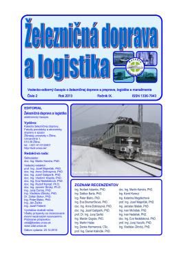 číslo 2/2013 - Fakulta prevádzky a ekonomiky dopravy a spojov