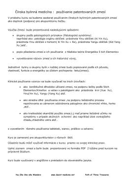 Čínska bylinná medicína : používanie patentovaných zmesí