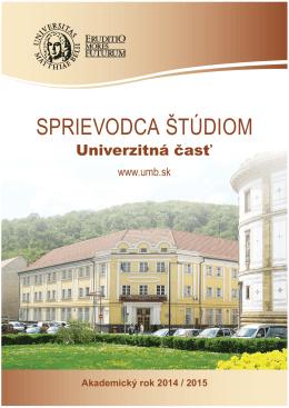 Sprievodca štúdiom na akad. rok 2014/2015