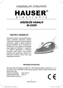 SI-2200_manual_HU 2011v3.indd