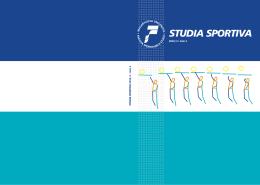 studia sportiva 2010/4 #1 - Fakulta sportovních studií