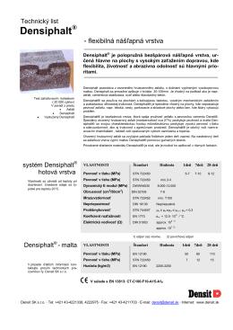 Technický list-Densiphalt