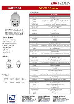 DS2DF7286A 2MPx PTZ IR IP kamera