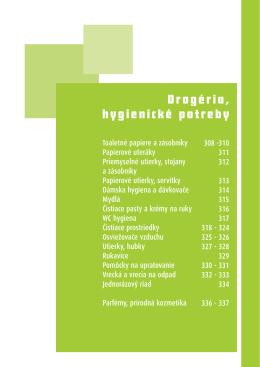 Drogéria, hygienické potreby