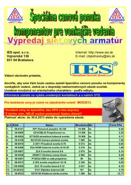 Akcia - výpredaj_MOS2013