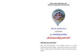 Kežmarský pstruh - Mo SRZ Kežmarok