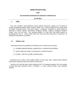 CENNÍK ÚČTOVNÝCH PRÁC /CÚP/ pre navrhovanie