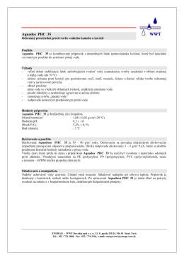 Aquados PHC 35 - ENERGO - WWT Slovakia spol. s ro