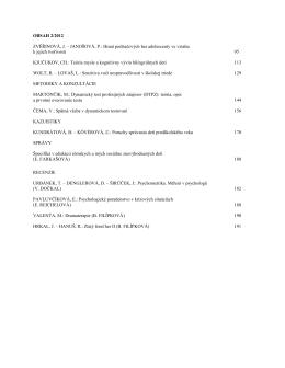 Číslo 2 - Výskumný ústav detskej psychológie a patopsychológie