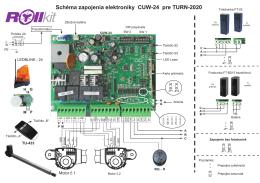 Schéma zapojenia elektroniky CUW-24 pre TURN-2020