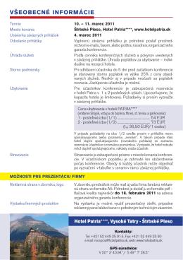 Pozvánka - Slovenská cestná spoločnosť