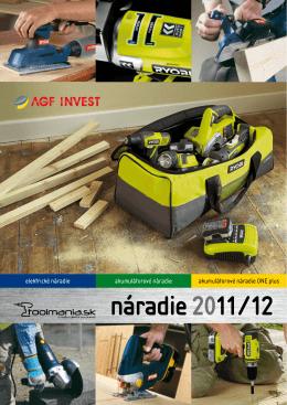 Stiahnite si katalóg Náradie 2012 formát PDF