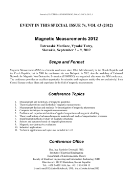 Magnetic Measurements 2012