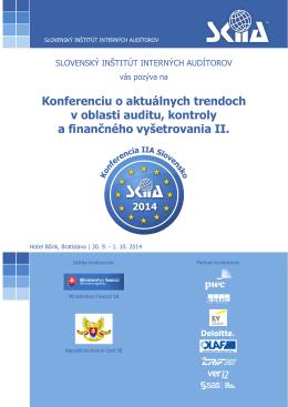 Konferenciu o aktuálnych trendoch v oblasti auditu, kontroly af