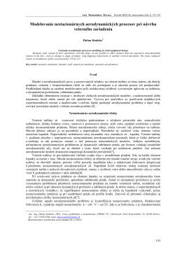 Dušan Kudelas - Acta Montanistica Slovaca