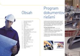Obsah Program dokumentovaných riešení