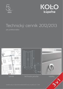 Technický cenník 2012/2013