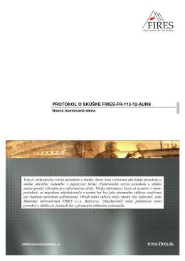 Požiarna odolnosť - protokol (113)