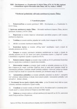 V5eobecn6 podmienky uiivania autobusovej stanice Zilina