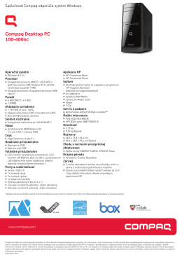 PSG Consumer 2C14 Compaq Desktop Datasheet - HP