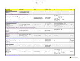 List of Regional Ethics committees Update: March 2012