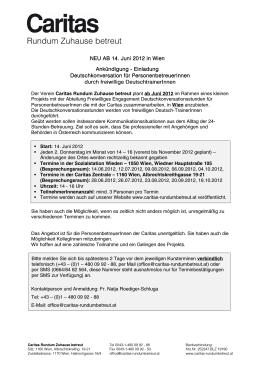 Rundum Zuhause betreut - Caritas 24