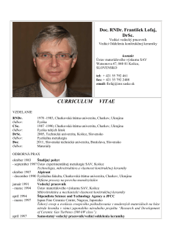 Doc.RNDR. František Lofaj, DrSC.