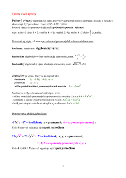 05 - Výrazy a ich úpravy