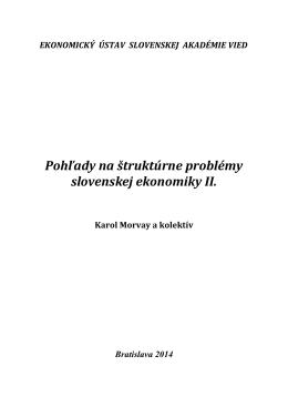 - Ekonomický ústav SAV