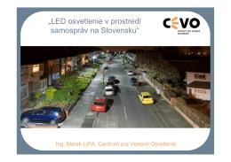 """""""LED osvetlenie v prostredí samospráv na Slovensku"""""""