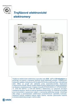 Trojfázové elektronické elektromery
