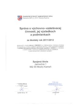 Správa o výchovno-vzdelávacej činnosti 2005/2006