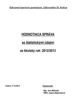 Súkromné športové gymnázium, Užhorodská 39, Košice