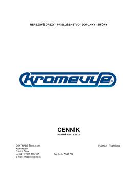 KROMEVYE od 01092012 - Dextrade Žilina, sro