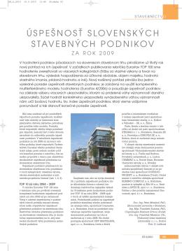 úspešnosť slovenských stavebných podnikov - 4