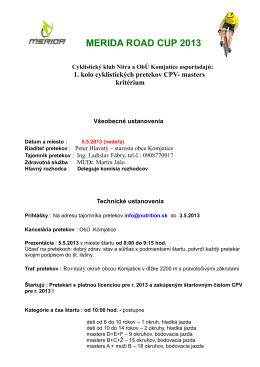 1. kolo 5.5.2013, kritérium Komjatice