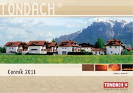 Cenník TONDACH - MON