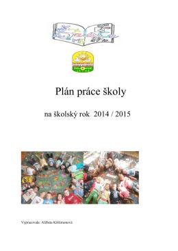 Plan práce MŠ 14
