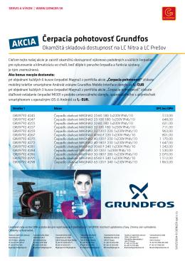 Čerpacia pohotovosť Grundfos